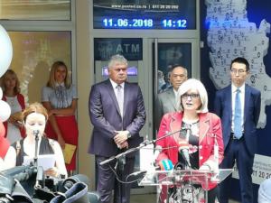 Otvaranje prvog bankomata u Srbiji u saradnji Poštanske štedionice i UnionPay kartičnog sisitema, jun 2018